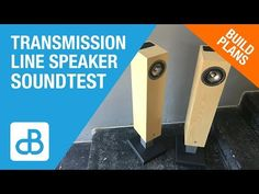 Transmission Line Speaker Build SOUND TEST - by SoundBlab - YouTube Built In Speakers, Stereo Speakers, Speaker Plans, Transmission Line, Hifi Audio, How To Plan, Building, Youtube, Home Stereo Speakers