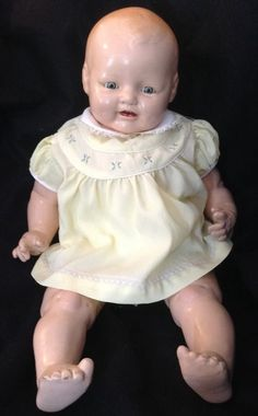 E I Horsman Composition Doll Baby Dimples EIH Antique 1928 Vintage
