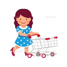 Download Free Graphicriver 	             Girl Dressed Like a Lady            #basket #basketful #buggy #carriage #character #concept #dress #flat #food #full #grocery #Hypermarket #icon #illustration #isolated #mall #merchandise #people #person #product #pushing #shop #shopper #shoppingcart #store #supermarket #symbol #toy #trolley #vector