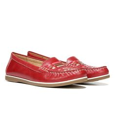 Love this Red Huntley Leather Loafer on #zulily! #zulilyfinds