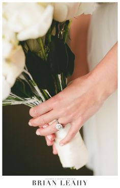 Bouquet & Engagement ring. Brian Leahy Photography.