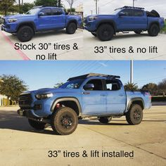 2018 Pro Revtek leveling kit with tires Thought I'll share my exp using Revtek (add-a-leaf in rear) and BFG DT tires combo. The purpose of this thread is to inform other. Toyota Trucks, Lifted Ford Trucks, Pickup Trucks, Tacoma Wheels, Tacoma Truck, Trd Pro Wheels, Lifted Tacoma, Overland Tacoma, Overland Truck
