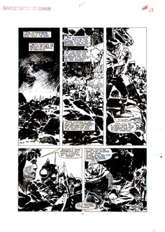 Jorge Zaffino. Savage Sword of Conan #162 p.13