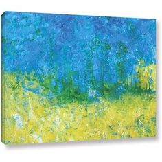 ArtWall Herb Dickinson Tropical Waters Gallery-wrapped Canvas, Size: 18 x 24, Blue