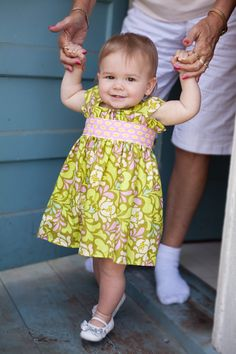 Love this 1st birthday dress made from Amy Butler fabric!