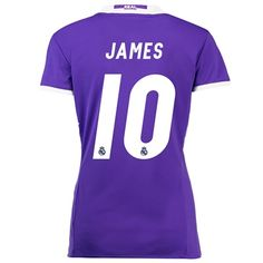 Real Madrid Away Jersey 2016/17 - women - with James 10 printing: The Real Madrid Away Shirt 2016-17 -… #RealMadridShop #RealMadridStore