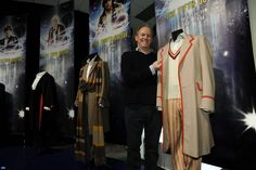 Peter with his costume, now on display at the Doctor Who Experience in Cardiff Bay. Peter Davison, Cardiff Bay, Doctor Who Tardis, Man Go, Dr Who, A Good Man, Costumes, My Love, Paradise