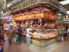 #Valencia #mercado #jamon #bellota Valencia, Food Retail, Fresh Market, Hams, Retail Stores, Monuments, Vacations, City, Travel