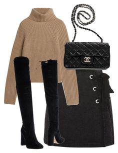 """Untitled #5151"" by theeuropeancloset ❤ liked on Polyvore featuring Topshop, Bianca Di and Chanel"