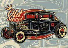 Old School Hot Rod Art - Bing Images