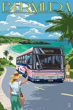 the pink buses in bermuda go everywhere & the drivers are so very polite and helpful!!