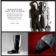 Burberry pushes iconic products via weather-themed email