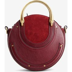 Chloé Chloé Small Pixie Bag (63.065 RUB) ❤ liked on Polyvore featuring bags, handbags, red, round purse, handle bag, chloe handbags, red handbags and chloe purse