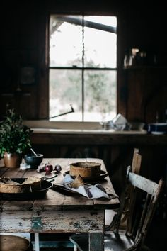 Rustic cabin living, wood and natural light. Interior Exterior, Interior Design, Slow Living, Cabins In The Woods, Farm Life, My Dream Home, Hygge, Primitive, Sweet Home