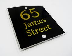 House Number Sign 65... Sophiscated and Stylish Sign!