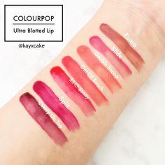 Colourpop Ultra Blotted Lip Swatches #kayxcake
