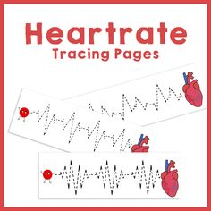 Heartrate Prewriting Pages for Preschool