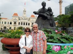 "Hal & Lynn and ""Uncle Ho"" in HCMC or saigon"