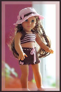 Sugar Bows Tankini & Boyshorts Crochet Pattern 18 inch Dolls  American Girl Doll