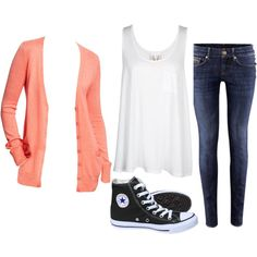 Everyday outfit  #converse #cardigan