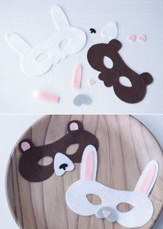 Super cute and easy felt animal masks for kids using your Cricut! #CricutEverywhere