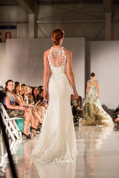 Beautiful backless wedding dress with lace. Gorgeous!