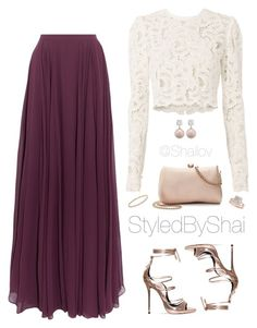 A fashion look from February 2017 by slimb featuring A. Halston Heritage LC Lauren Conrad Allurez David Yurman Jankuo and StyledByShai Modest Outfits, Classy Outfits, Skirt Outfits, Stylish Outfits, Beautiful Outfits, Teen Fashion Outfits, Modest Fashion, Fashion Dresses, Muslim Fashion