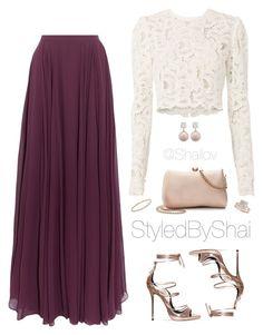A fashion look from February 2017 by slimb featuring A. Halston Heritage LC Lauren Conrad Allurez David Yurman Jankuo and StyledByShai Modest Outfits, Classy Outfits, Skirt Outfits, Stylish Outfits, Beautiful Outfits, Teen Fashion Outfits, Modest Fashion, Fashion Dresses, Muslim Fashion