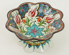 Handmade Multi-Glazed Ceramic Sugar Bowl Snack by BeyondTheSeaUS