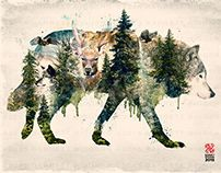 Surreal Nature Series Wolf Pride