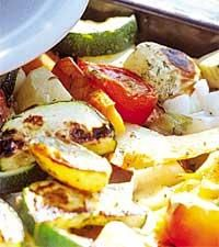 Rostade grönsaker i långpanna