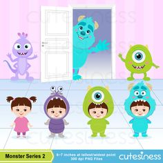 Items similar to Monster Digital Clipart, Space Monster Clipart, Cute Monster Clipart, Cute Monster Clip Art on Etsy Monsters Inc Baby Shower, Monsters Inc Boo, Monster Inc Party, Monster Birthday Parties, Buu Monster Inc, Monster Clipart, Monster University, Photo Album Scrapbooking, Monster Design