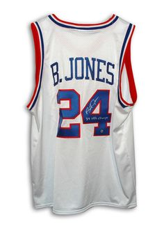 Bobby Jones Philadelphia 76ers Autographed Throwback NBA Basketball Jersey Inscribed 83 NBA Champs (White) - OnlineSports.com
