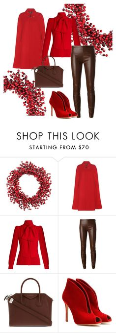 """""""Christmas Red!!!"""" by lmhandford ❤ liked on Polyvore featuring Improvements, Gucci, Sonia Rykiel, Jitrois, Givenchy and Gianvito Rossi"""