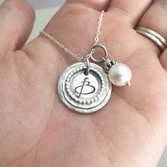 Hand Stamped Custom Personalized Sterling by DanielleJoyDesigns
