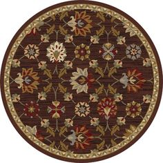 """Threadbind Percy Brown Area Rug Rug Size: Round 5'3"""""""