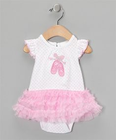 Molly - 12M  , Gabby 24M   Pink Ballet Tutu Bodysuit | Vitamins Baby Clothes | New Clothing | Designer Baby Clothes | Cute Baby Clothing.