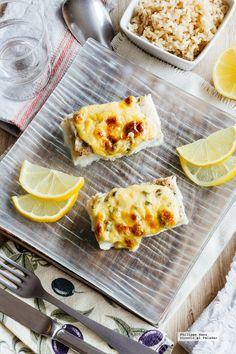 Pescado con mayonesa al horno. Receta fácil y saludable con fotografías del paso a paso y recomendaciones de degustación. Recetas de pescados. Recetas saluda...