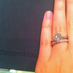 Doesn't have to be tiffany or 2 caret but this is my dream ring and wedding band :)