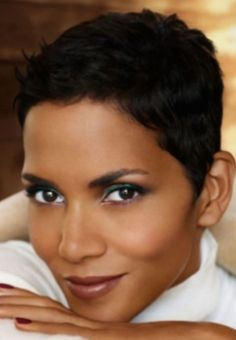 Halle Berry Natural Hair Short Cuts, Tapered Natural Hair, Short Sassy Hair, Short Hair Cuts, Natural Hair Styles, Short Pixie, Au Natural, Pixie Cut, Black Women Short Hairstyles