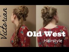 Vintage Hairstyles Tutorial The Prestige inspired hairstyle ~ Victorian Old West updo ~ Long Hair ~ . 1800s Hairstyles, Historical Hairstyles, Steampunk Hairstyles, Victorian Hairstyles, Diy Hairstyles, Pretty Hairstyles, Drawing Hairstyles, Hairdos, Wedding Hairstyles
