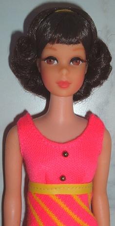 Stunning Vintage 1969 Twist n Turn TNT Francie Doll Flip Hair w String Swimsuit Play Barbie, Mattel Barbie, Barbie And Ken, Barbies Dolls, Barbie Sisters, Barbie Family, African American Dolls, Hair Flip, Vintage Barbie Dolls