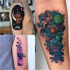 Тату Космос — Небесные Тела и Просторы Вселенной в Татуировках | Tattoo-ideas.ru