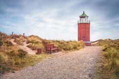 "Quermarkenfeuer ""Rotes Kliff"" (Kampen / Sylt), Dünen, Kampen, Küste, Leuchtturm, Nordsee"