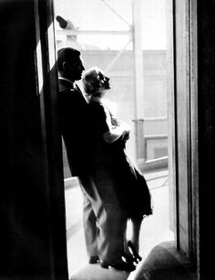 Clark Gable & Carole Lombard in silhouette.  A great love story, tragic ending.