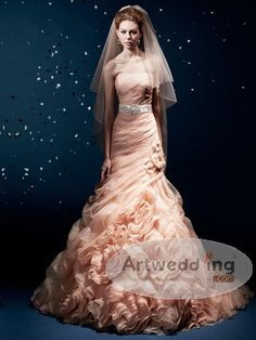 Google Image Result for http://cloud.artwedding.com/media/catalog/product/cache/1/image/d6c745f11bc642c40cf2d45c2c0d0106/wedding/R/Ruched-and-Ruffled-Organza-Mermaid-Wedding-Dress-with-Floral-Embellishment-and-Belt.jpg