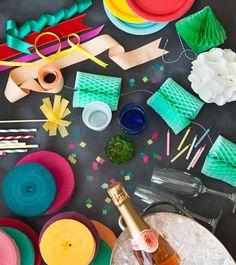 Hip hip hooray! confetti! party smorgasbord.
