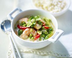 Prawn Green Curry Recipe A quick and tasty Thai curry that takes only 15 minutes to create and costs you only 177 calories.