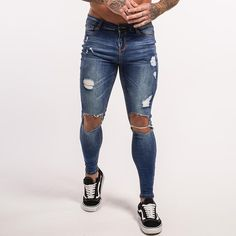 acb802000e4 Cool 43 Comfy Men Ripped Jeans Ideas. More at https   outfitsbuzz ...