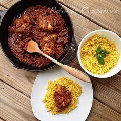 SCD Pakistani Chicken Biryani w/ Saffron Cauliflower 'Rice' (*Use SCD legal yogurt / chili powder...)